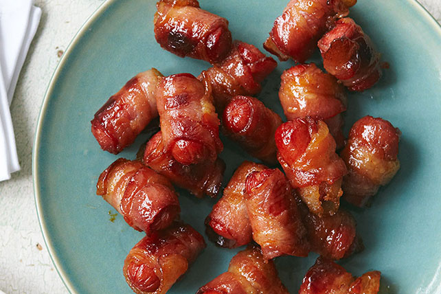 Bacon-Wrapped Hot Dog Bites
