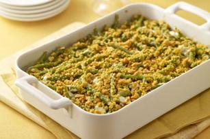 Creamy Garlic-Green Bean Casserole